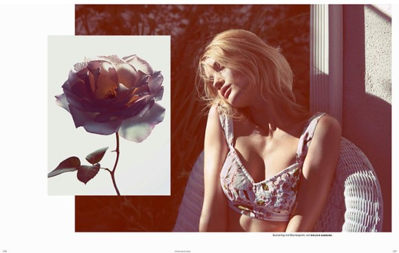 Rosie Huntington-Whiteley by Camilla Akrans for Vogue Germany