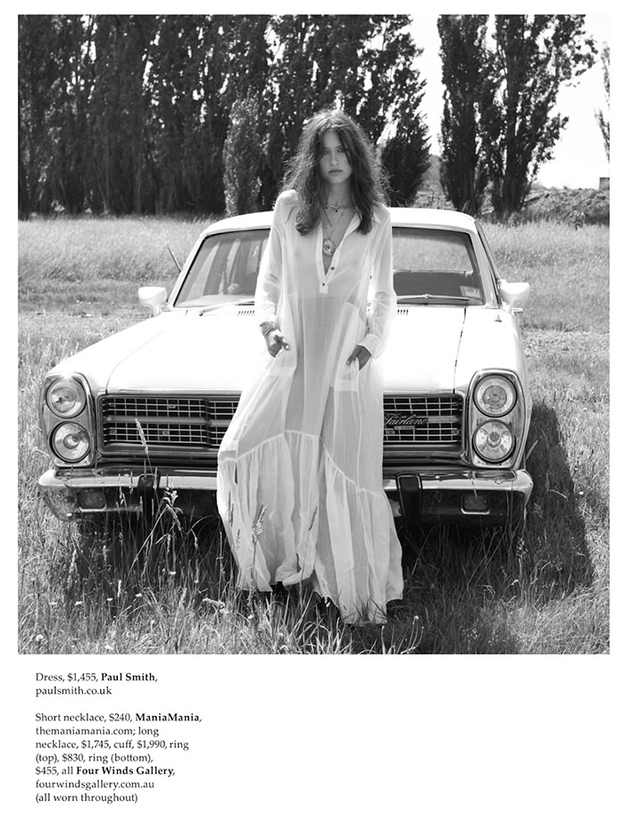 Valerija Erokhina photographed by Stefania Paparelli for Elle Australia, May 2014