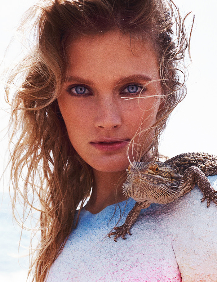 Constance Jablonski photographed by Benny Horne for Numero #154
