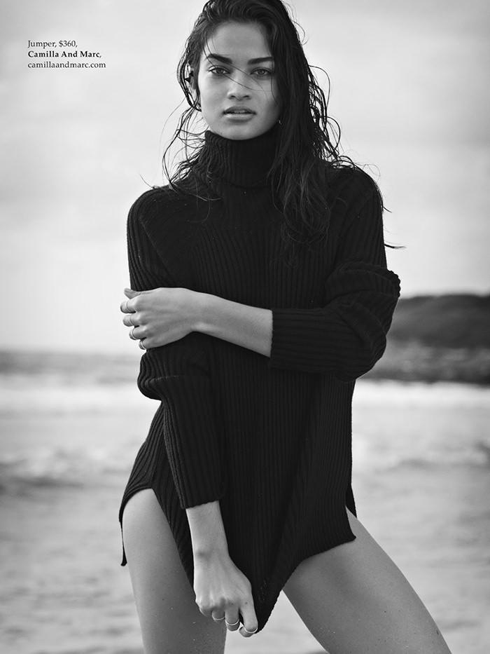 Shanina Shaik photographed by Derek Henderson for Elle Australia, July 2014