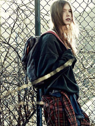 Julia Hafstrom by Andreas Sjodin for Elle Sweden