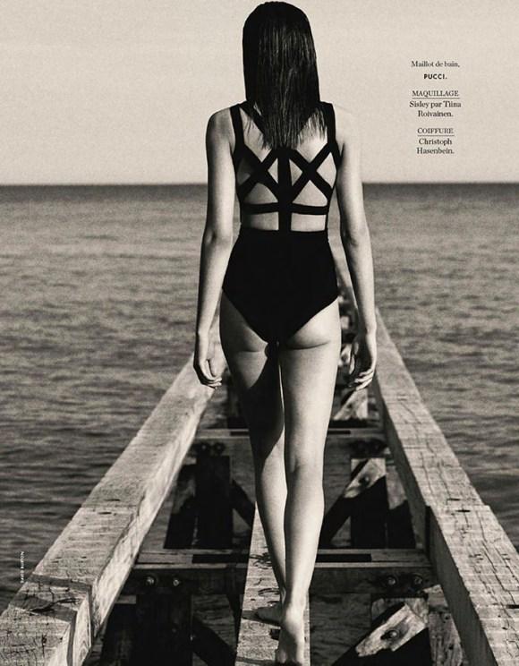 Julija Steponaviciute by David Burton for Elle France