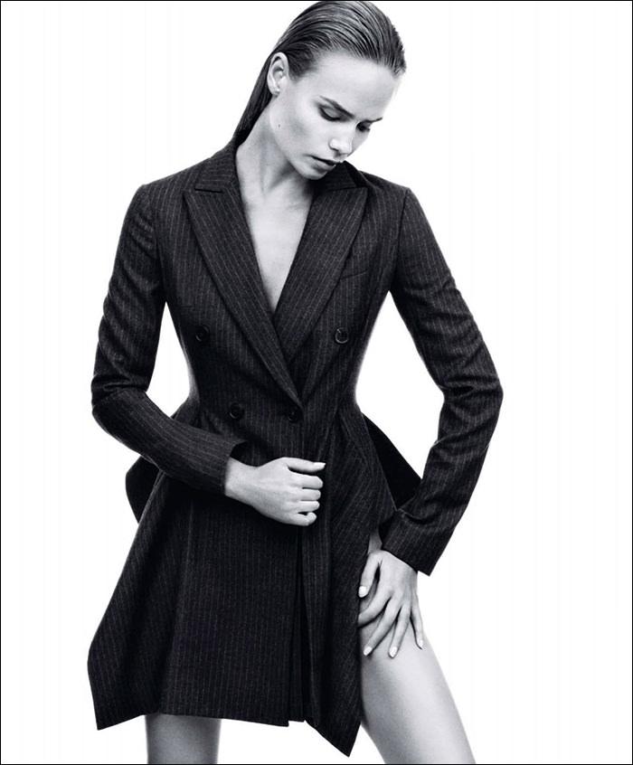 Natasha Poly photographed by Daniel Jackson for Harper's Bazaar, September 2014