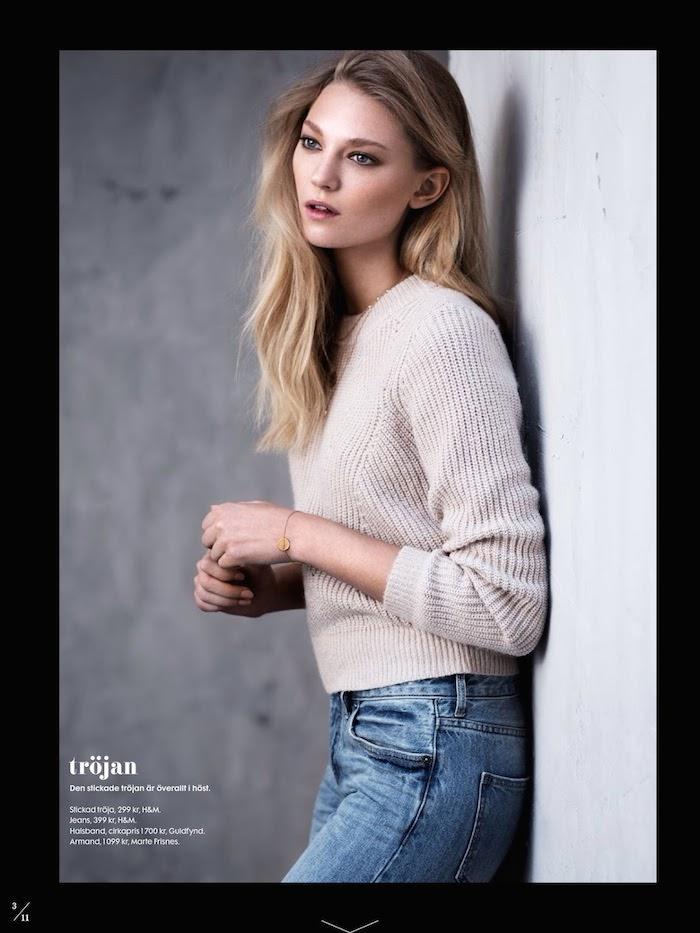 Johanna Jonsson photographed by Eric Broms for Elle Sweden, October 2014