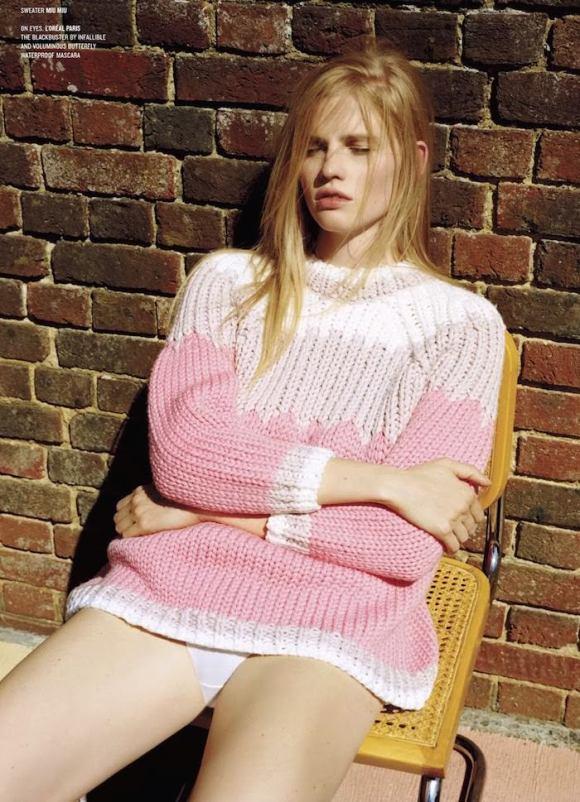 Lara Stone by Alasdair McLellan for V Magazine