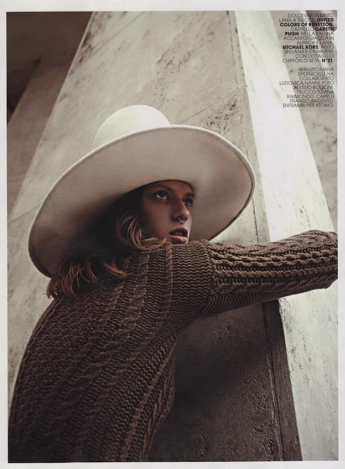 Tess Hellfeuer photographed by Alessio Bolzoni for Marie Claire, November 2014