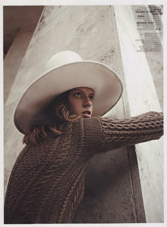 Tess Hellfeuer by Alessio Bolzoni for Marie Claire