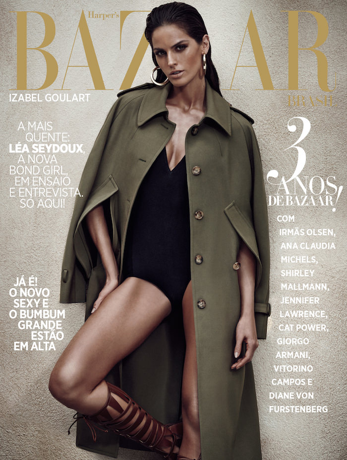 Izabel Goulart covers Harper's Bazaar Brazil