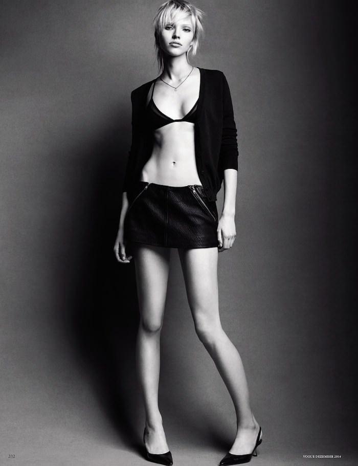 Sasha Luss photographed by Luigi & Iango for Vogue Germany, December 2014