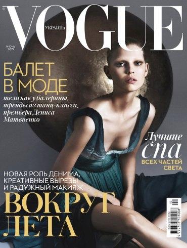 Ola Rudnicka covers Vogue Ukraine