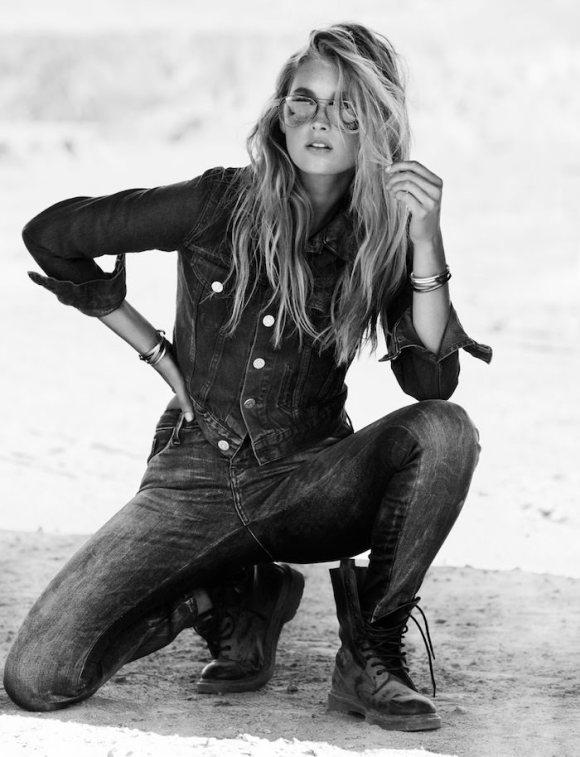Elsa Hosk by Jimmy Backius for Elle Sweden