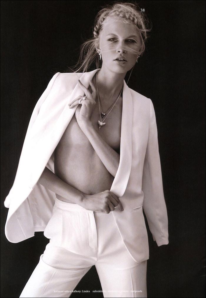 Andrea Hrncirova photographed by Veronika Cechmankova for The Book Magazine