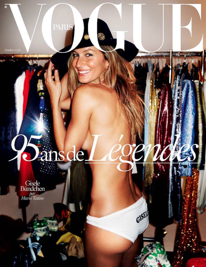 Gisele Bündchen covers Vogue Paris