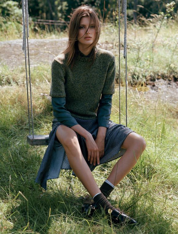 Louise Lefebure by Johan Sandberg for Elle Sweden