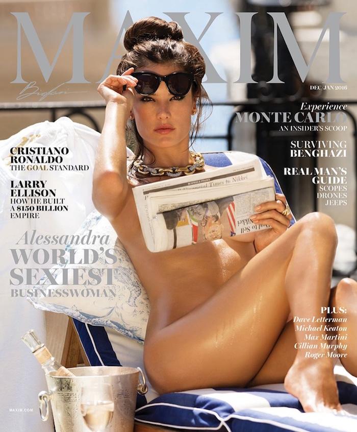 Alessandra Ambrosio covers Maxim Magazine
