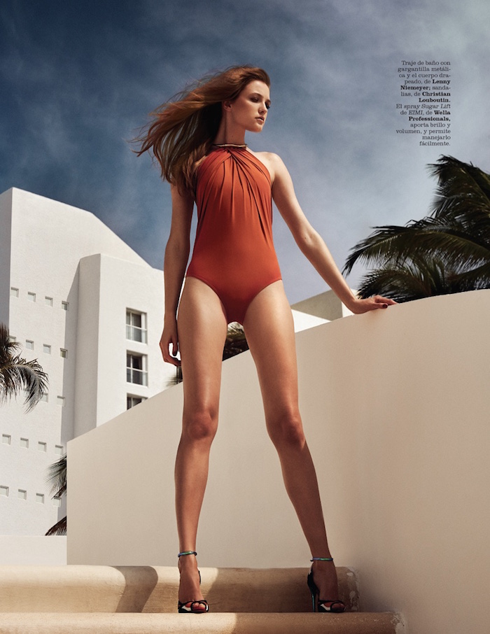 Vlada Roslyakova by Kevin Sinclair for Marie Claire Spain