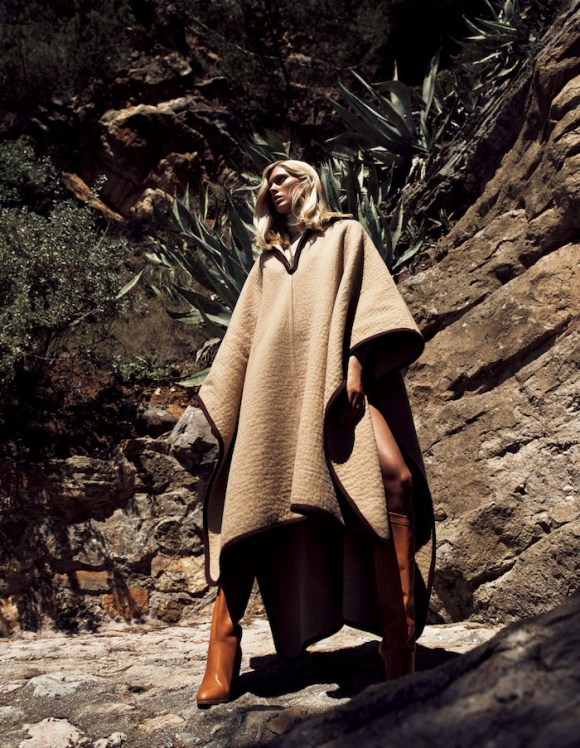 Iselin Steiro in The Luxury Of Beige by Lachlan Bailey for Vogue Japan