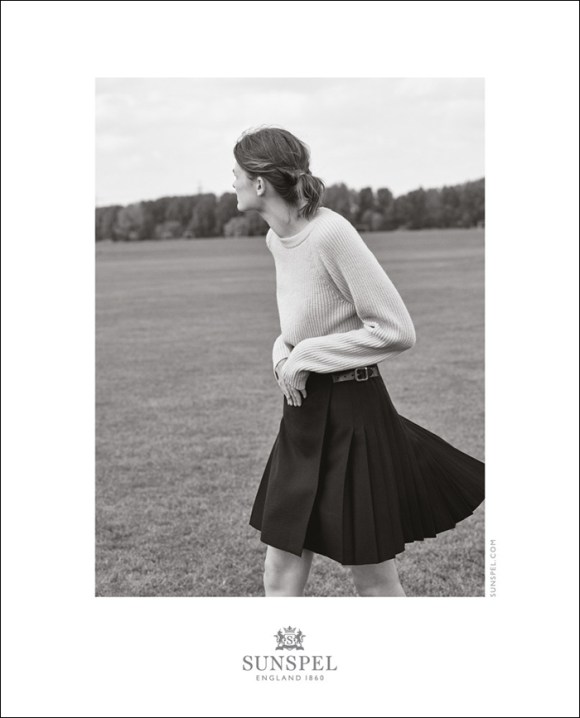 Lara Mullen by Bruno Staub for Sunspel