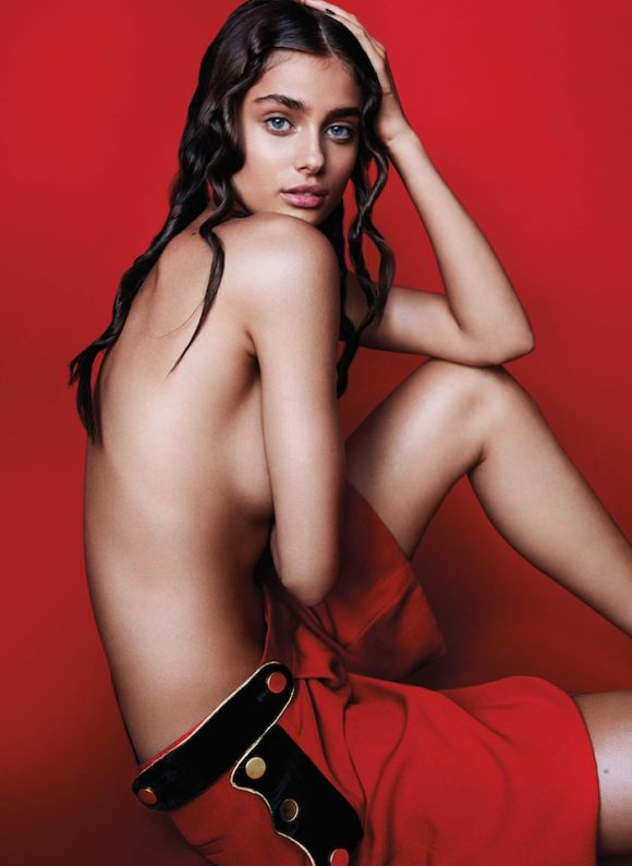 Taylor Hill topless by Mario Testino for V Magazine