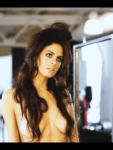 Bo Krsmanovic topless for Maxim