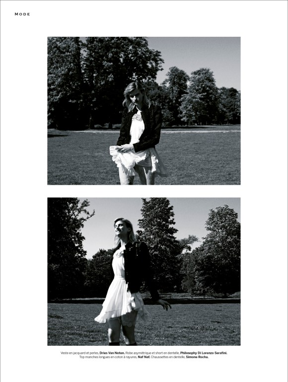 Veronika Vilim by Philip Gay for Stylist Magazine