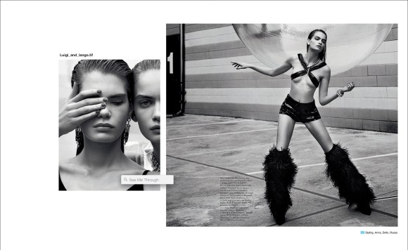 Nina Marker and Sophie Rask by Luigi and Iango for Vogue Italia