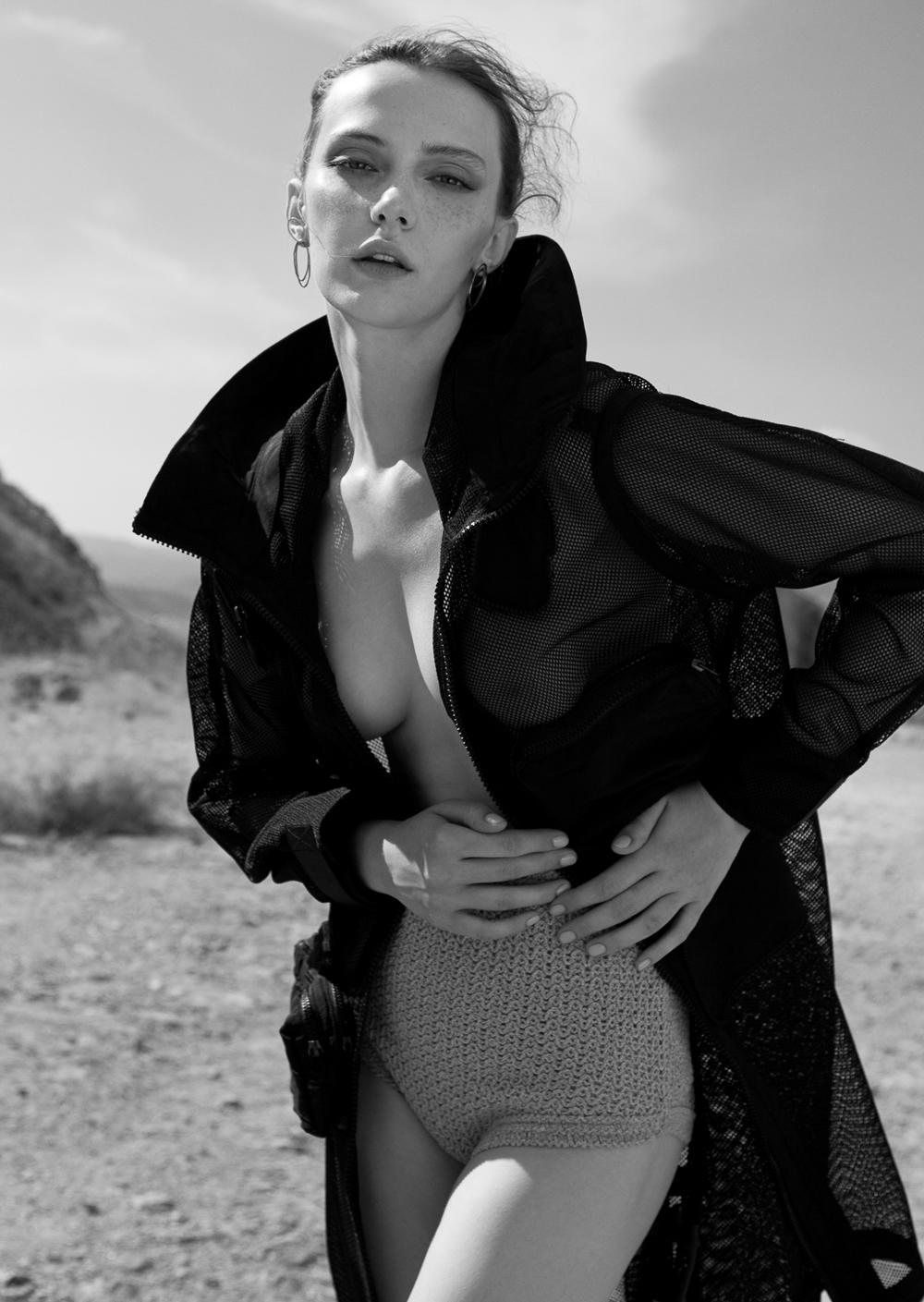 Kristina Vovk by Vasilis Topouslidis for Beauté Magazine Greece