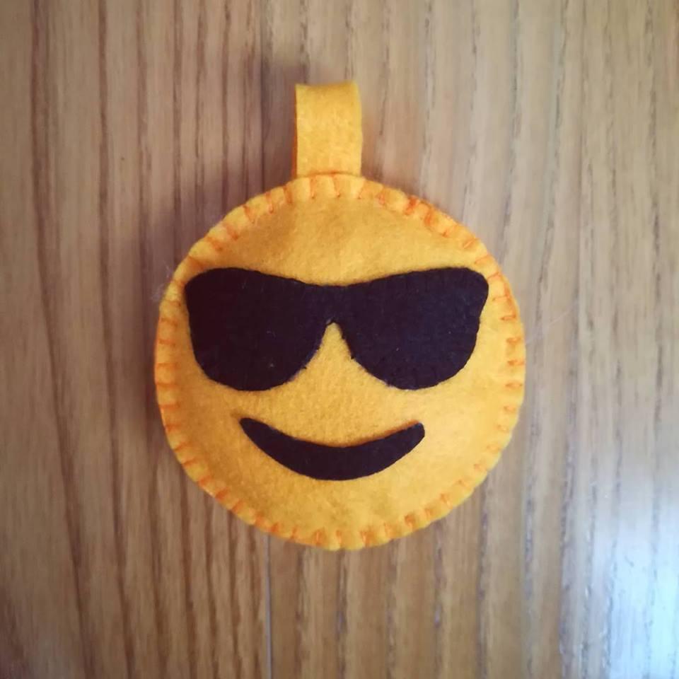 emoji sunglasses portachiavi pannolenci