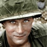 foto storiche ricolorate-Wayne Degan-soldato vietnam senza nome