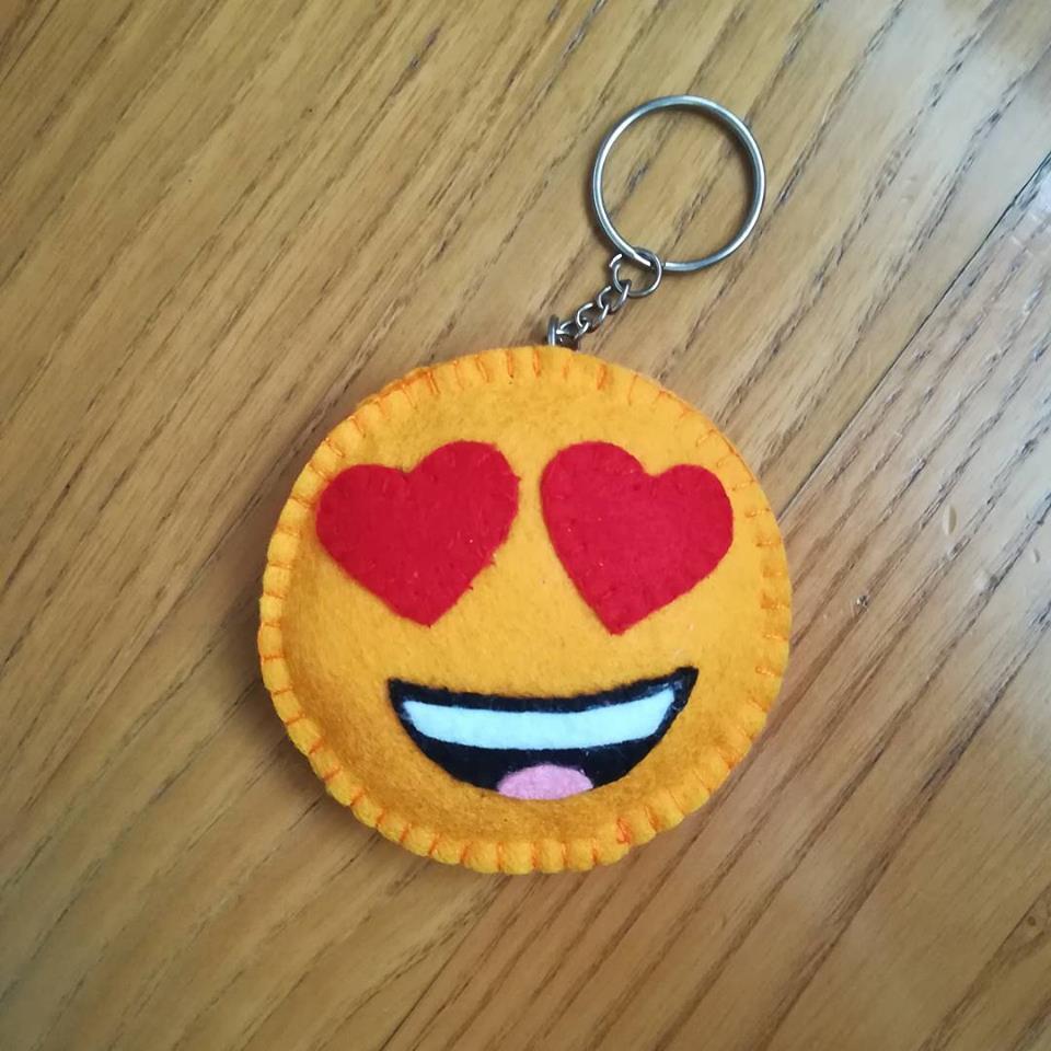 emoji hearteyes portachiavi