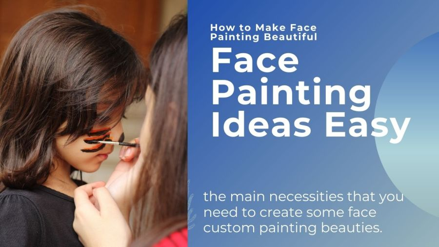 face painting on a baby girl