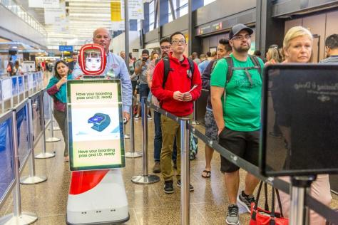 Tracy, the passenger service robot