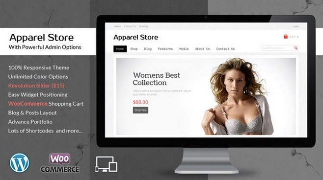 Wordpress Theme Apparel Store