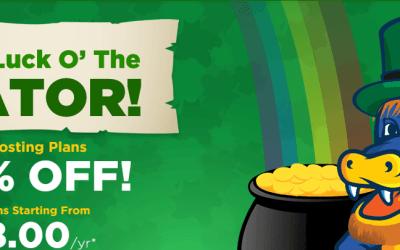 Promoção St. Patrick da Hostgator 2015