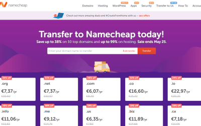 Transferência Dominios na Namecheap