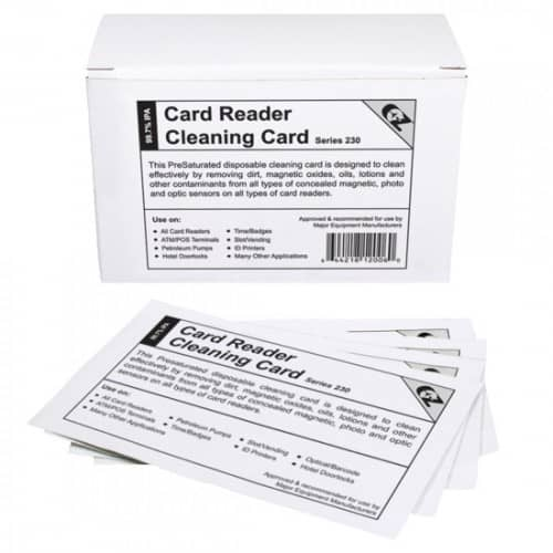 POS-Depot Bran CR80 Alcohol Cleaning Cards