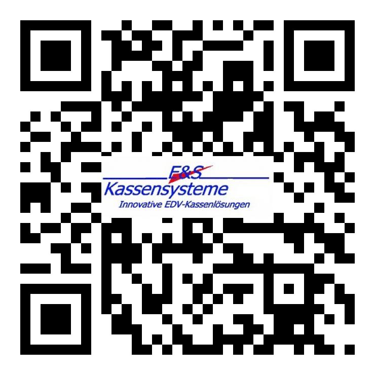 E+S Kassensoftware, Warenwirtschaft, Kassensysteme, QR Code, Logo
