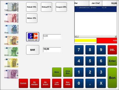 Zahlung Vkasse handel, kasse gastronomie, ticketkasse,  kassensysteme, kassensoftware, kassensystem, kassen