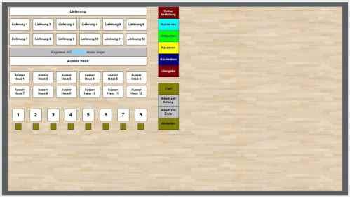 Tischplan mit Telefonerkennung für Maxstore Kassensoftware Gastronomie