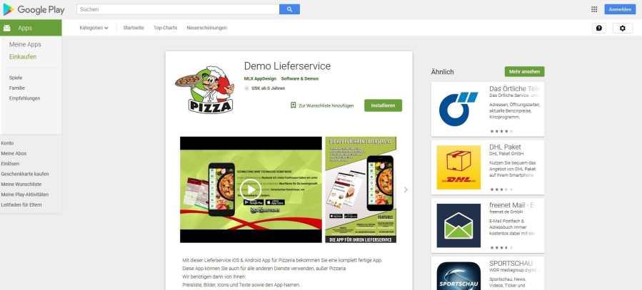 App für Liefersoftware