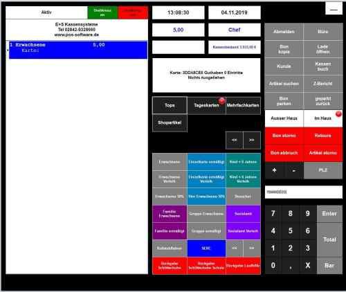 Kassensystem Eintritt / Ticket für Museen und Freizeitparks