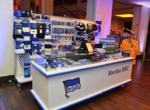 PosBill Kassensoftware Handel am Verkauffstand von Hertha BSC