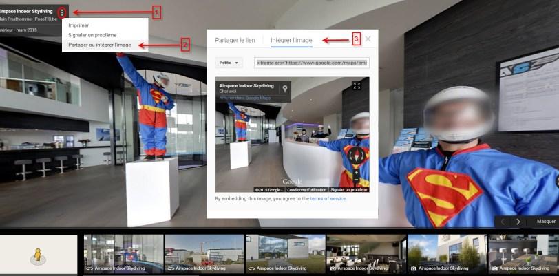 Comment trouver le code d'intégration d'une visite Google Street View