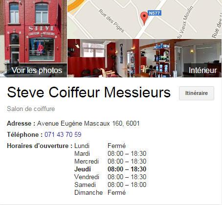 Steve Coiffeur Messieurs