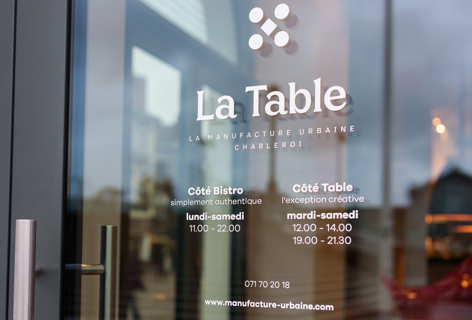 Alain Prudhomme - La Table de la Manufacture Urbaine à Charleroi