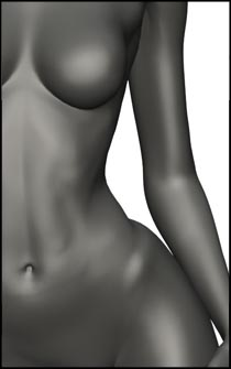 Female Standing Pose for Figure Drawing and Anatomy Reference