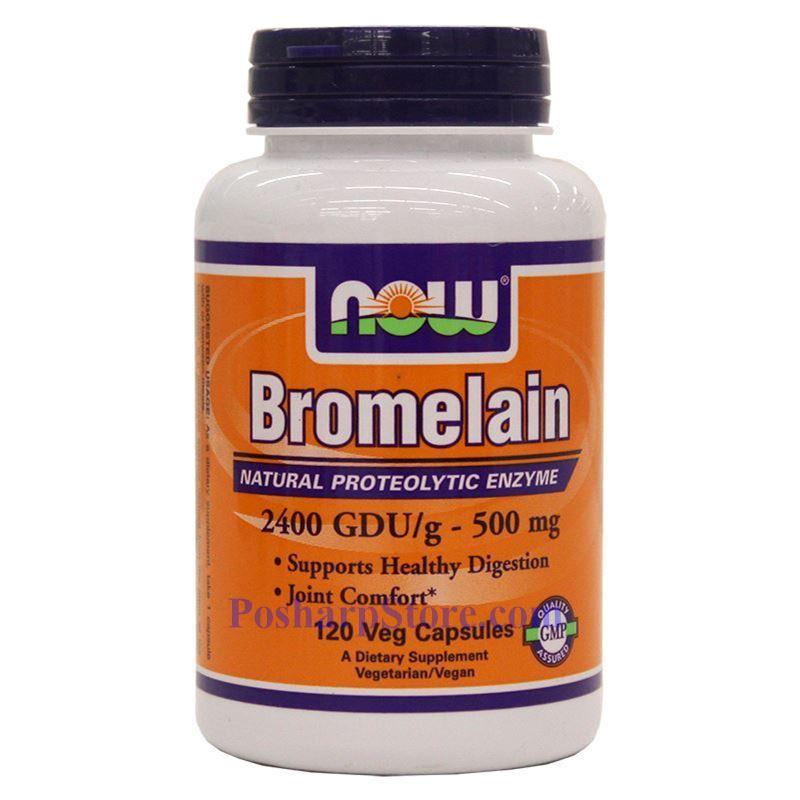 Now Foods Bromelain 500 mg 120 Veg Capsules