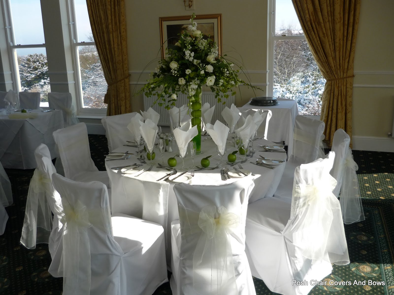 chair cover hire sunderland price for christmas covers posh bows chiavari chairs flower wall grinkle park saltburn cleveland