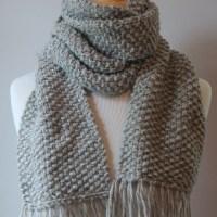 Free Beginner Scarf Knitting Pattern - Posh Patterns