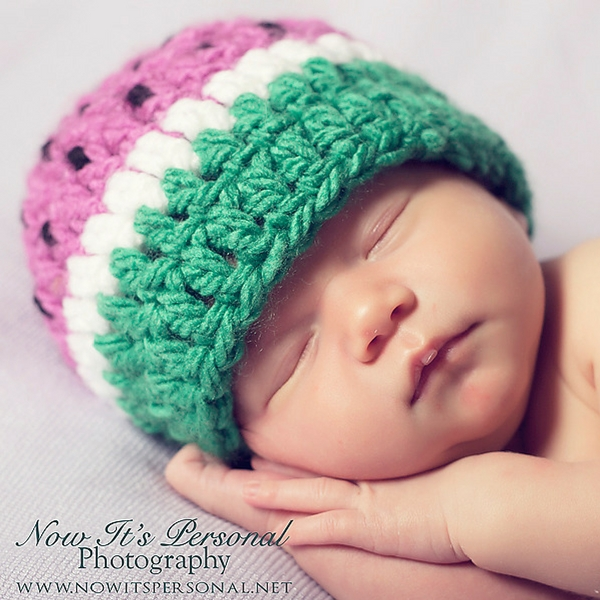 0f31bb3da89 Baby Watermelon Hat Free Crochet Pattern
